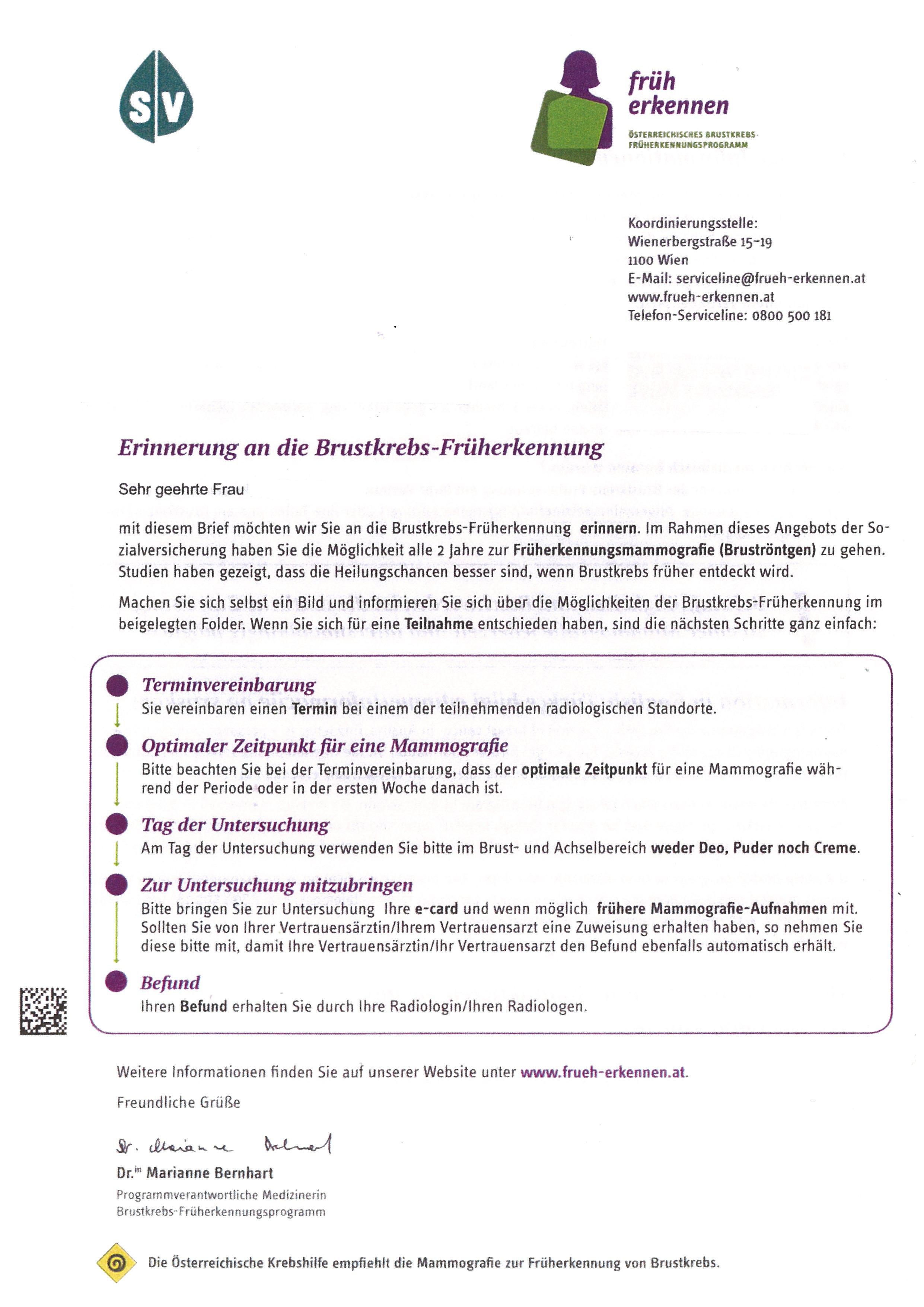 Diagnose Zentrum Brigittenau 3dimensionstm Mammographie Mit